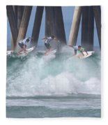 Jeremy Flores Surfing Composite Fleece Blanket
