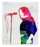 Joe Cocker Watercolor Fleece Blanket