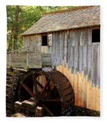 John Cable Mill In Cades Cove Historic Area In Smoky Mountains Fleece Blanket