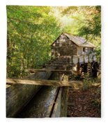 John Cable Mill In Cades Cove Historic Area In The Smoky Mountains Fleece Blanket