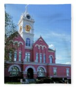 Jones County Court House - Gray, Georgia Fleece Blanket