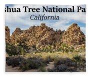 Joshua Tree National Park Box Canyon, California Fleece Blanket