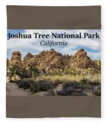 Joshua Tree National Park Box Canyon, California Fleece Blanket