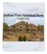 Joshua Tree National Park, California 03 Fleece Blanket