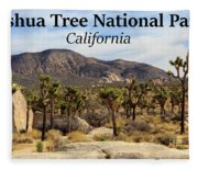 Joshua Tree National Park Valley, California Fleece Blanket