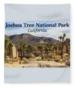 Joshua Tree National Park Valley, California Fleece Blanket