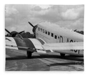 Ju-52 Taxing Fleece Blanket