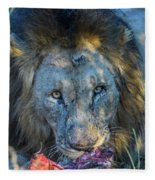 Jungle King With Kill With Killer Looks Fleece Blanket