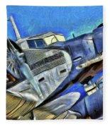 Junkers Ju 52 Art Fleece Blanket