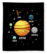Jupiter Planet Universe Astronomy Fleece Blanket