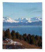 Kachemak Bay And Homer Alaska Fleece Blanket