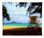 Kailua Beach Fleece Blanket