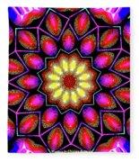 Kaleidoscopic Fleece Blanket