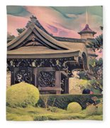 Kanagawa - The Japanese Garden Fleece Blanket