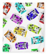 Karting Patterns Fleece Blanket