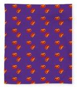 Kawaii Pumpkin Purple Fleece Blanket
