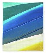 Kayak Angles And Colors Abstract II Fleece Blanket