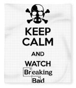 Keep Calm Breaking Bad Fleece Blanket