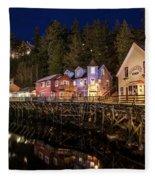 Ketchikan Creek Street Fleece Blanket