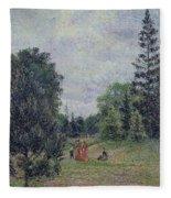 Kew Gardens, Crossroads Near The Pond, 1892 Fleece Blanket