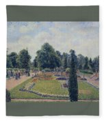 Kew Gardens - Path Between The Pond And The Palm House, 1892 Fleece Blanket