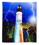 Key West Lightning Light House Fleece Blanket