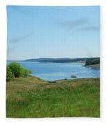 Kielder Water In Northumberland Fleece Blanket