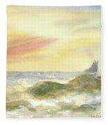 Kingdom By The Sea Fleece Blanket