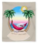 Kiniart Tropical Bichon Frise Fleece Blanket