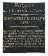 Kirkpatrick Chapel - Commemorative Plaque Fleece Blanket