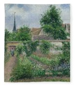 Kitchen Garden, Overcast Morning, Eragny, 1891  Fleece Blanket