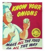 Know Your Onions Fleece Blanket