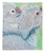 Koala With Baby - Pastel Wildlife Painting Fleece Blanket