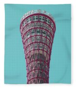 Kobe Port Tower Japan Fleece Blanket