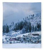 Koprivshtica Winter Panorama Fleece Blanket