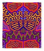 Kuna Butterfly Fleece Blanket