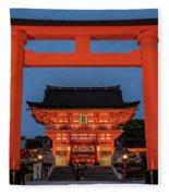 Kyoto Torii Gate Fleece Blanket