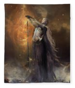 Lady Of The Lake Fleece Blanket