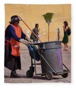 Lady Street Sweeper Fleece Blanket