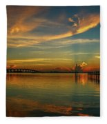 Lagoon Sunbeam Sunrise Fleece Blanket