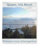 Lake Champlain Early Afternoon Sunshine Enhanced Poster Fleece Blanket