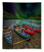 lake Geirionydd Canoes Fleece Blanket