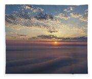 Lake Michigan Overlook 15 Fleece Blanket