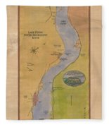 Lake Pepin Fleece Blanket