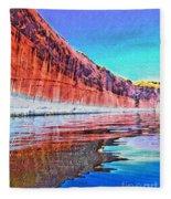 Lake Powell With Cliff Reflections Fleece Blanket