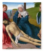 Lamentation Over The Body Of Christ Fleece Blanket