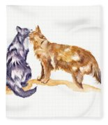 L'amour - Cats In Love Fleece Blanket