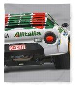 Lancia Stratos Rear Fleece Blanket