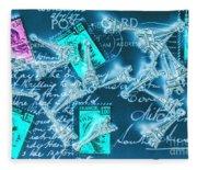 Landmark Love Letter Fleece Blanket