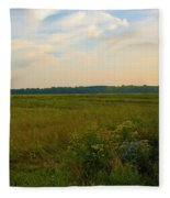 Salt March Landscape  Fleece Blanket